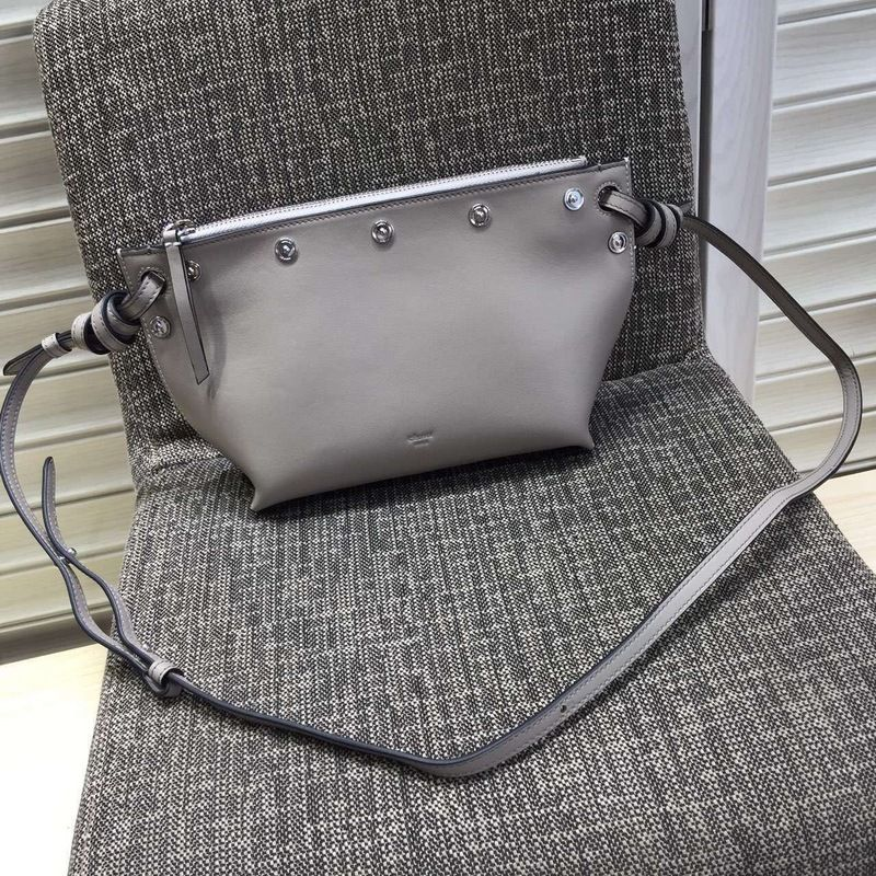 S S 2016 Celine Collection Outlet-Celine Small Sailor Bag with Studs in  Light Grey Natural Calfskin 3bcade22b51db
