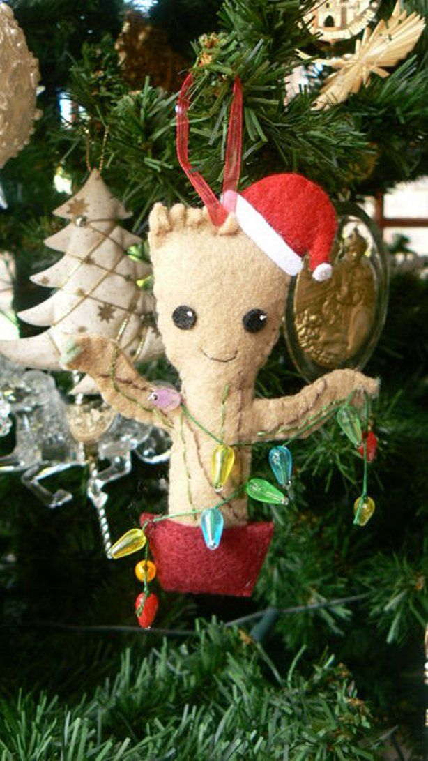 Geek Christmas Ornaments.Baby Groot Christmas Tree Ornament Crafty Gifty Ideas