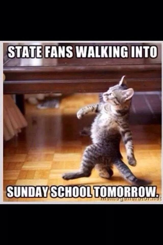 #HailState Fans Walking Into Sunday School Tomorrow !