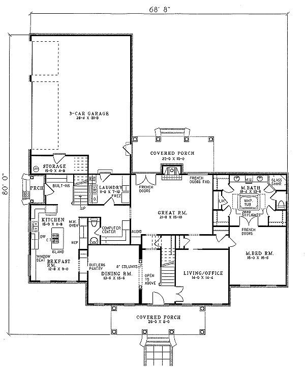 houseplans House Plan 17 227 not really my style in terms of