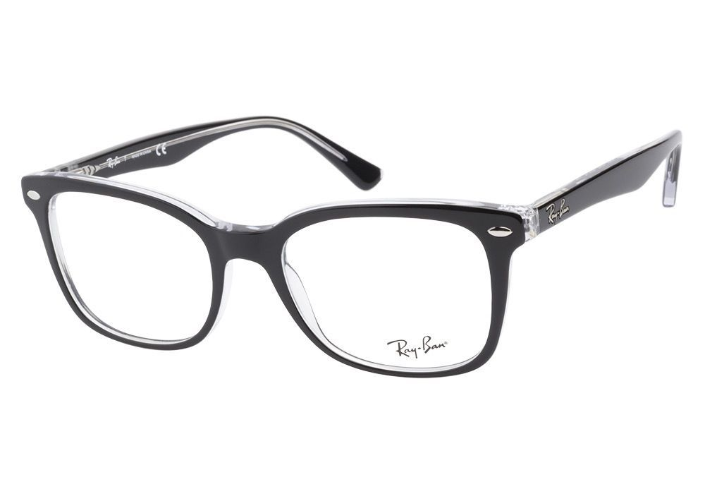 5501b4ab48 RAY BAN NEW PLASTIC MEN WOMEN RX EYEGLASSES BLACK CLEAR RB 5285 2034  51-19-140  RAYBAN