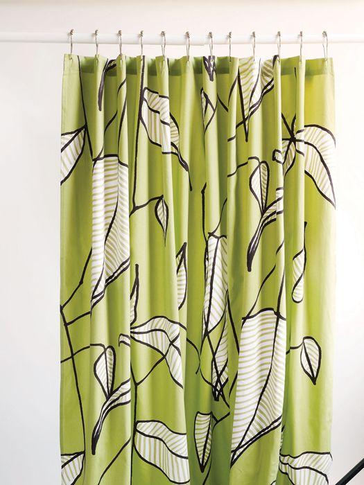 Marimekko leafy shower curtain