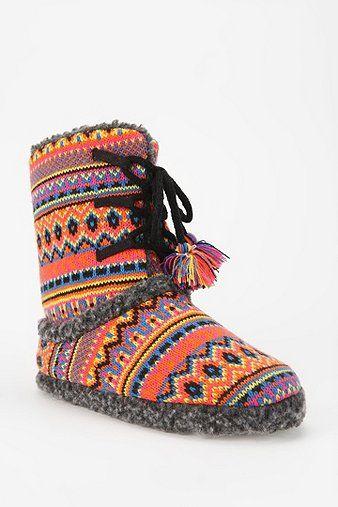 Fair Isle Slipper-Sock Boot | w e a r | Pinterest | Fair isles ...