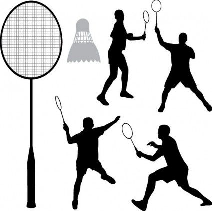 Badminton Silhouette Vector Vector Silhouettes Free Vector For Free Download Badminton Badminton Pictures Silhouette Vector