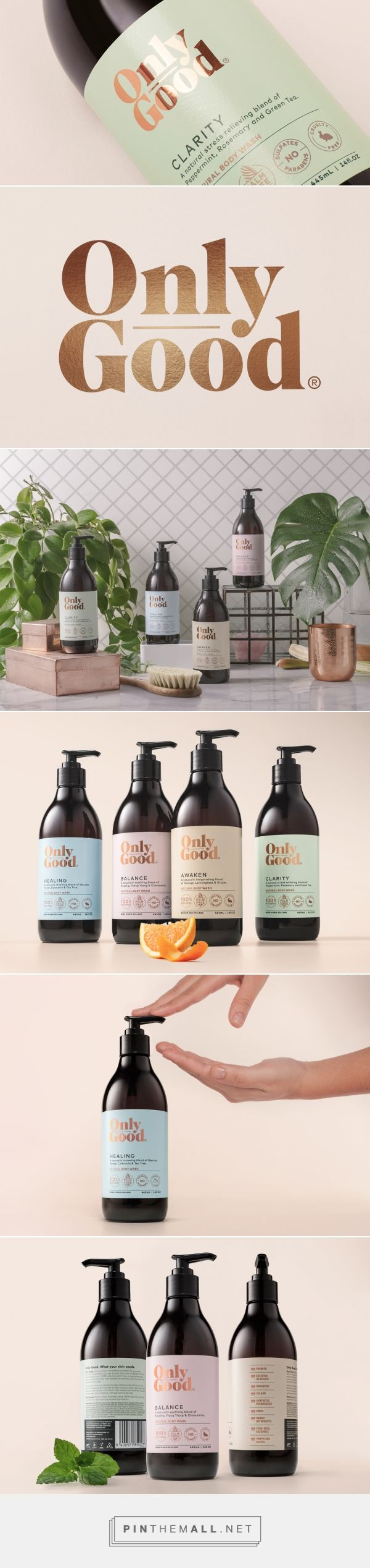 Label / cosmetics / Only Good — The Dieline - Branding & Packaging - created via http://pinthemall.net