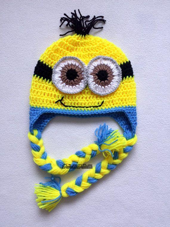 Despicable me hat,crochet minion hat,MINION INSPIRED,photo prop ...