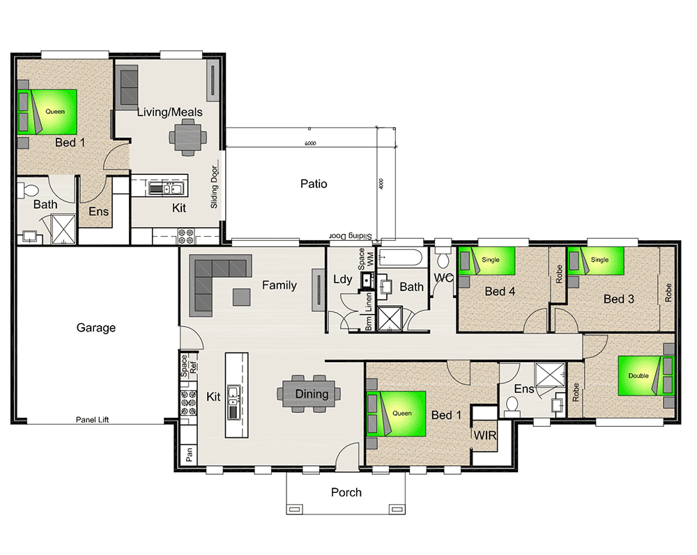 house plan with granny flat attached google search great pin for oahu architectural - Attached House Plans