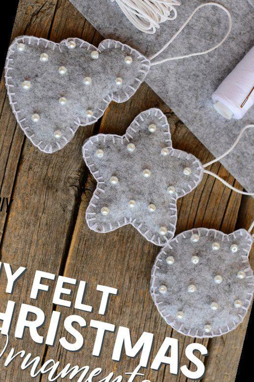 11+ Diy Easy Felt Christmas Ornaments | Christmas