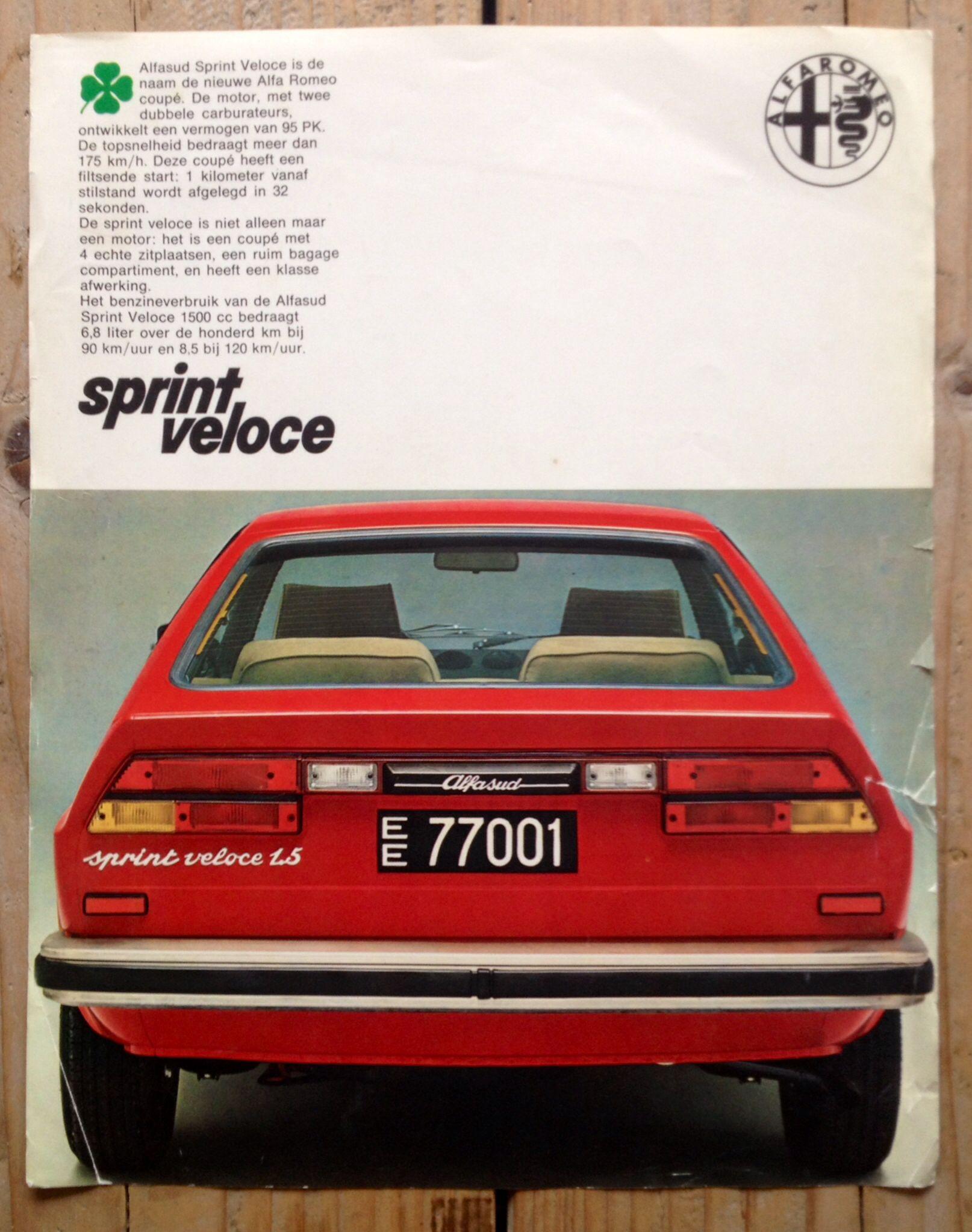 Alfa Romeo Sprint Veloce 15 Brochure 1979 Gt 1300 Junior Restoration Windscreen Wiper Motor 155