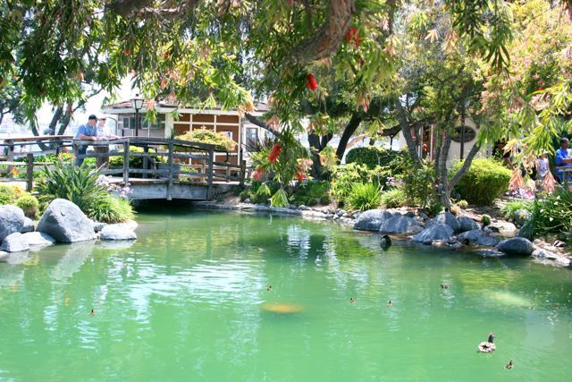 "San Diego's Seaport Village, located on the ""Big Bay"" has a peaceful Koi Pond"
