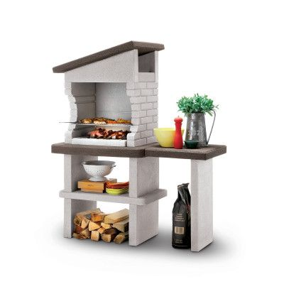 Barbecue in muratura con cappa Roma Leroy Merlin Pinterest - beton cellulaire exterieur barbecue