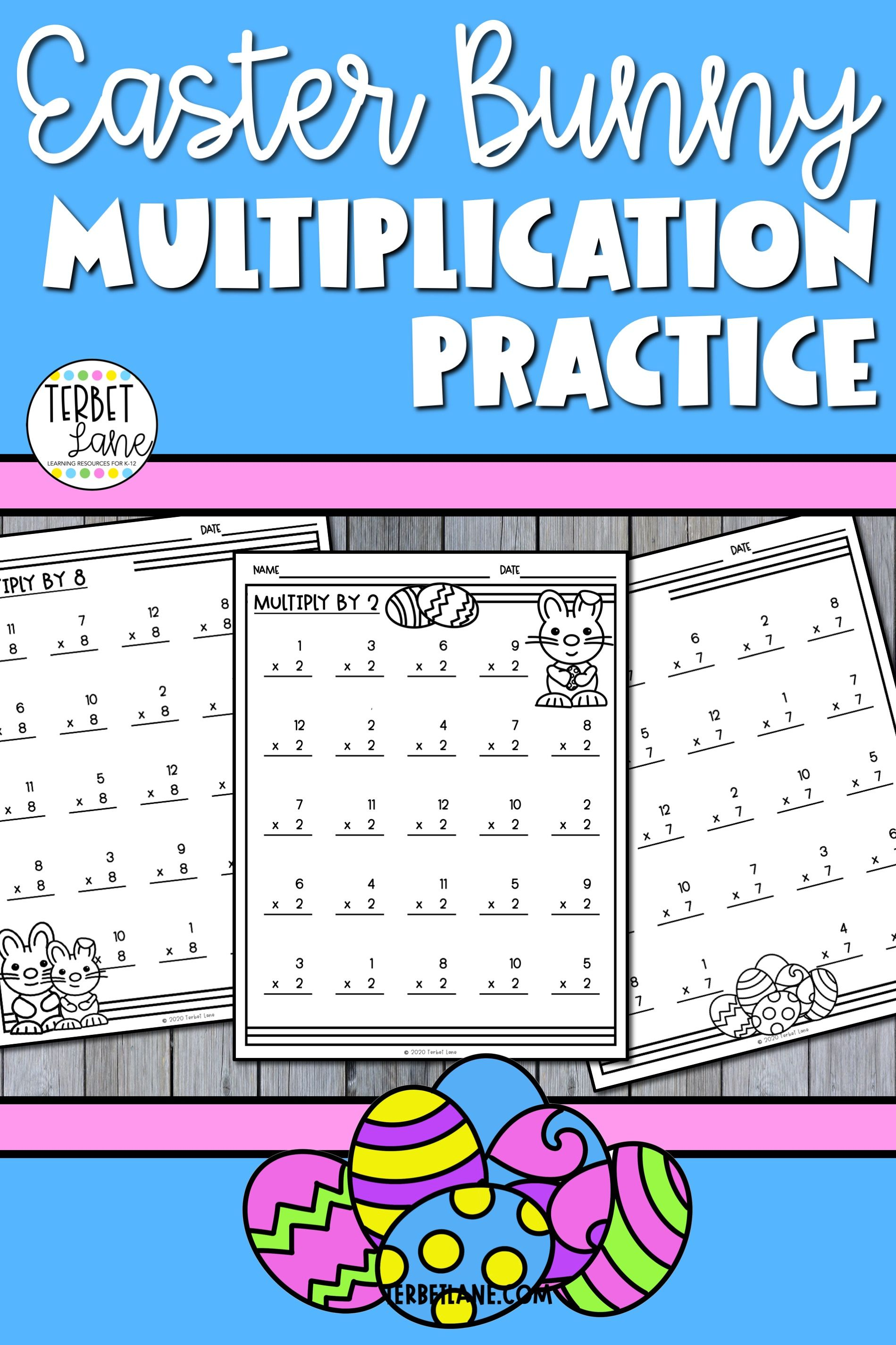 Easter Bunny Multiplication Worksheets
