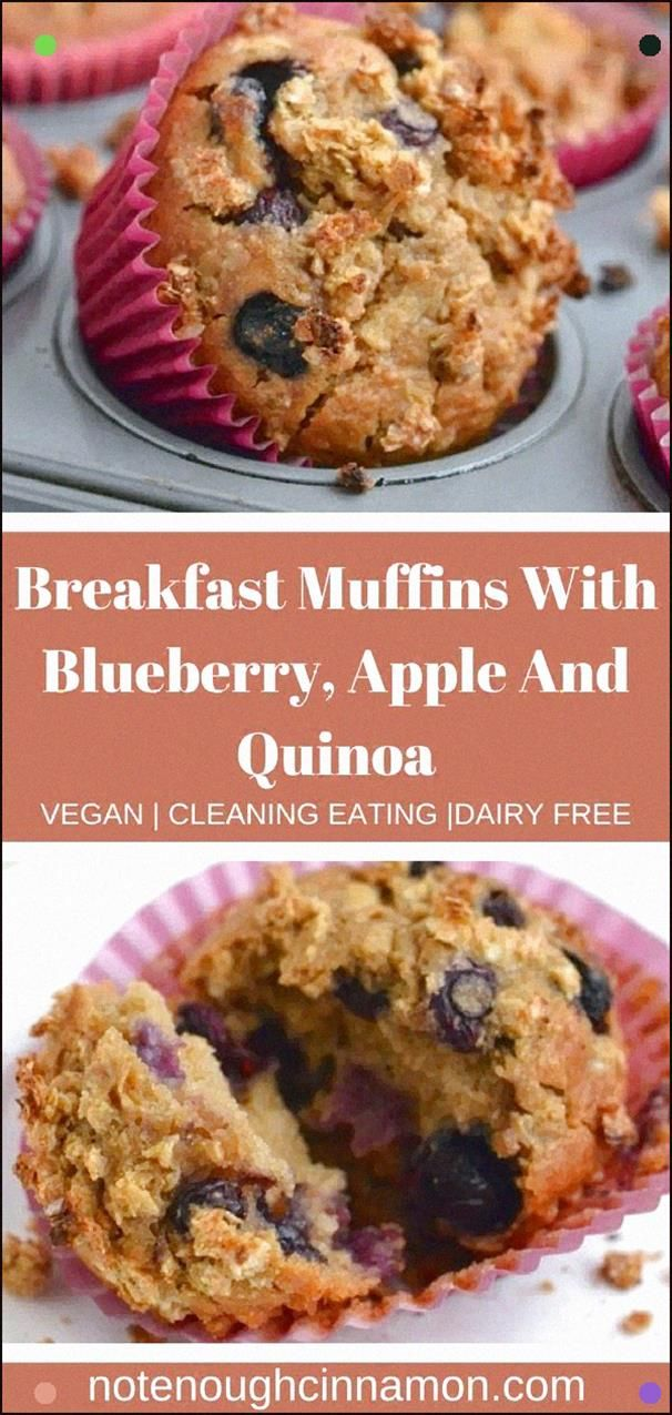 These Vegan Apple, Blueberry, Quinoa Breakfast Muffins Will Leave Your Belly Full And Content, Read