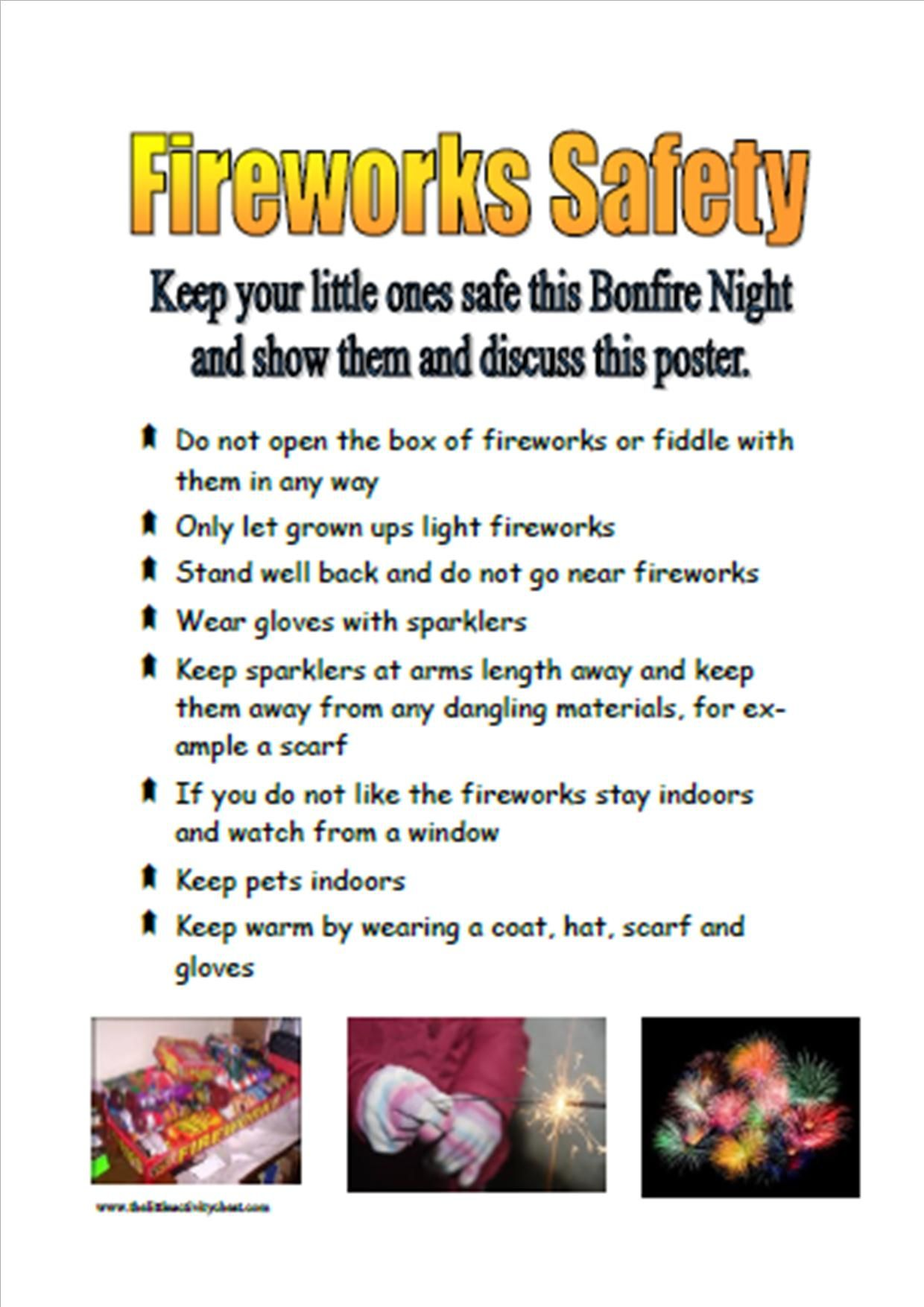 hight resolution of firework safety poster img