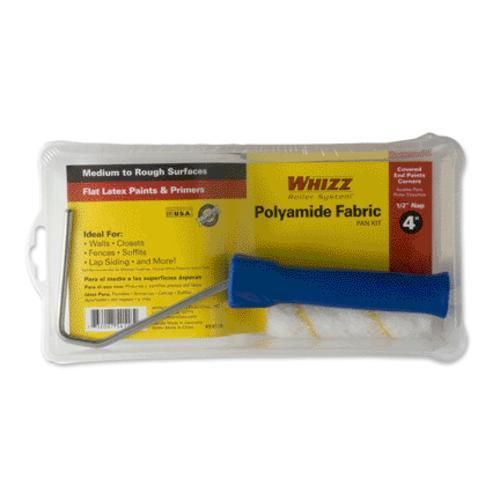 Whizz 54118 Premimum Gold Stripe Roller Kit 4 3 Piece Paint Rollers With Designs Work Tools Pan Set