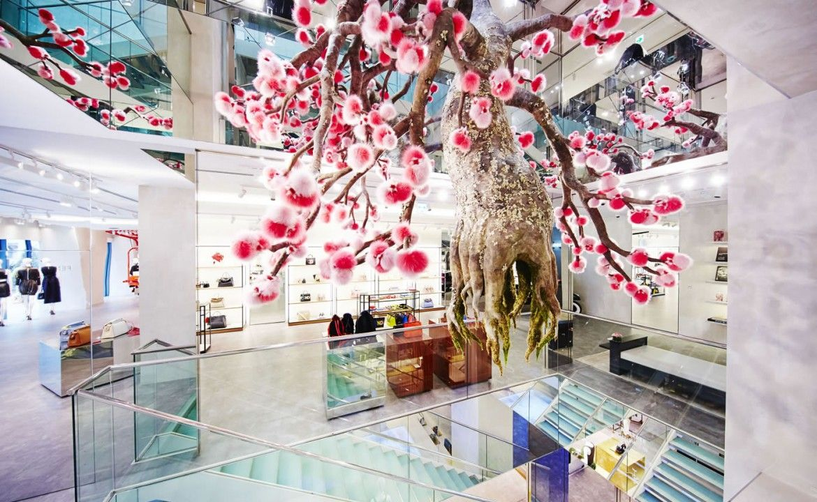a068cf97741 Flowerland takes over Fendi's Ginza Pop up store -   Floristry and ...