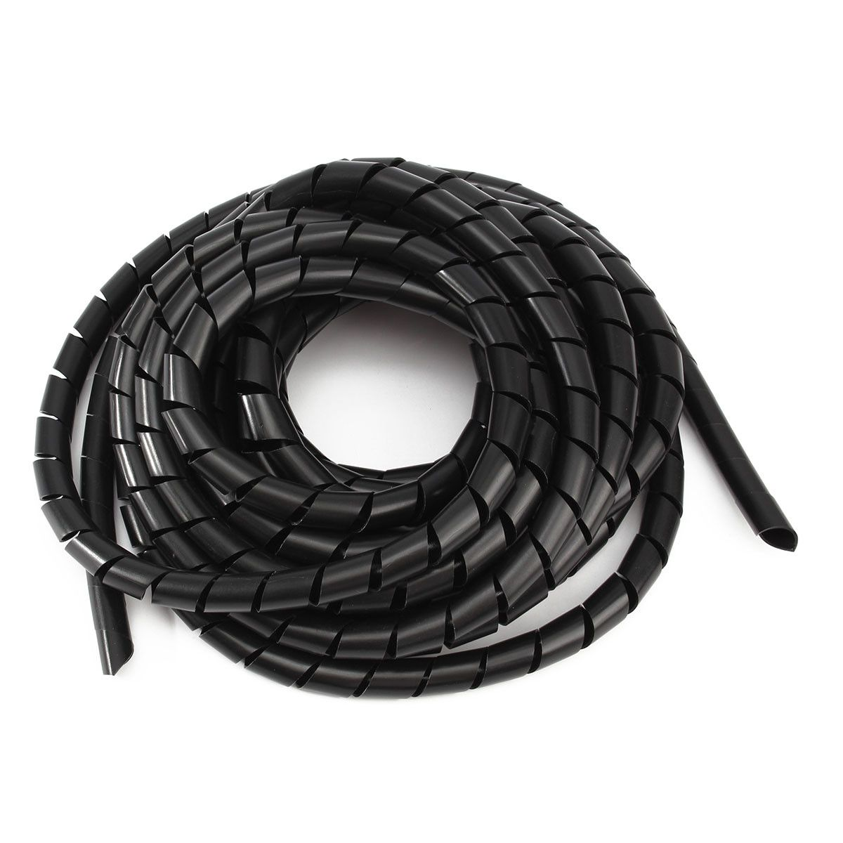 Black Spiral Polyethylene Cable Electrical Wire Wrap Tube Computer ...
