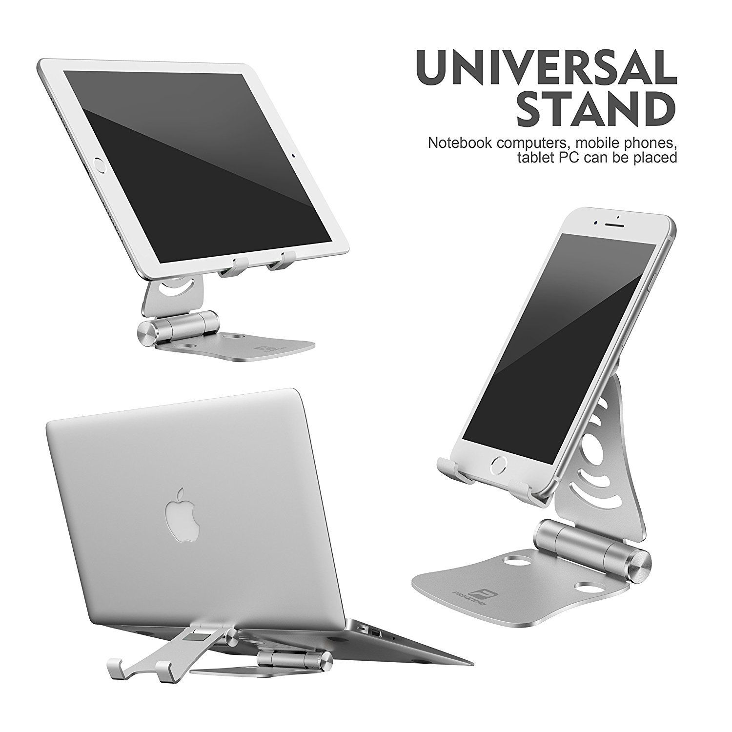 """Tablet Stand Multi-Angle Aluminum IPad Stable Sticky Charging Up To 12.9/"""" Red"""