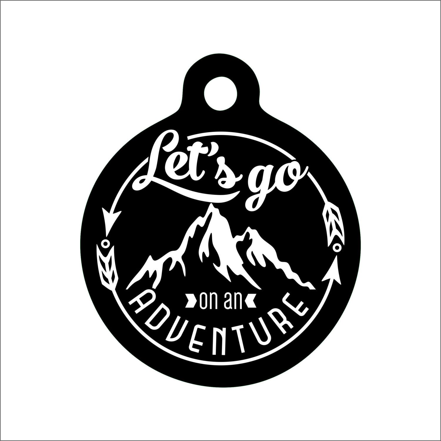 Let's Go On An Adventure Dog Tag - Adventure Pet Tag - Personalized Engraved Pet Tag - Explorer Dog Tag by BlackDogEngraving on Etsy