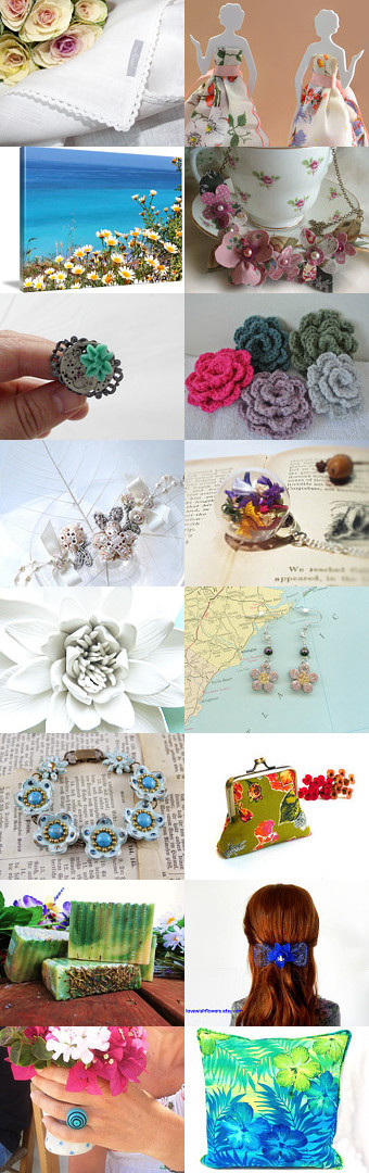 Flowers of Spring! by Debi on Etsy--Pinned with TreasuryPin.com