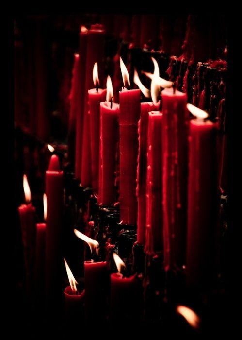 estimulación de las velas rojas