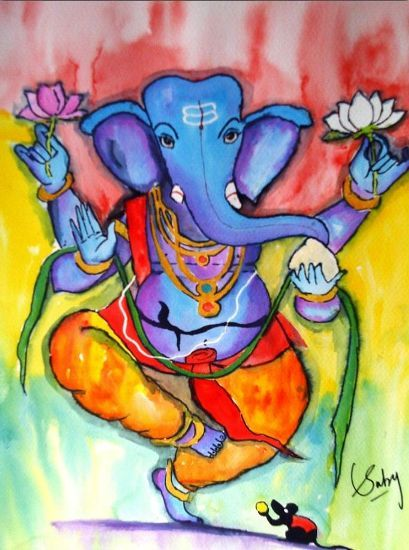 Paintings Of Ganesha In Dance Google Search Ganesha Painting