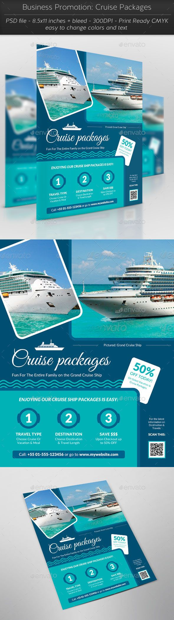 Business Promotion Cruise Packages Pinterest Promotion Flyer