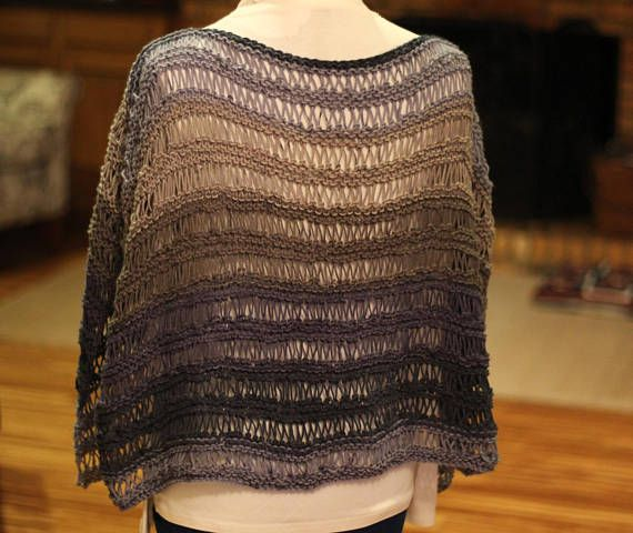 Knit Poncho Pattern Knitted Cape Pattern Easy To Knit Poncho