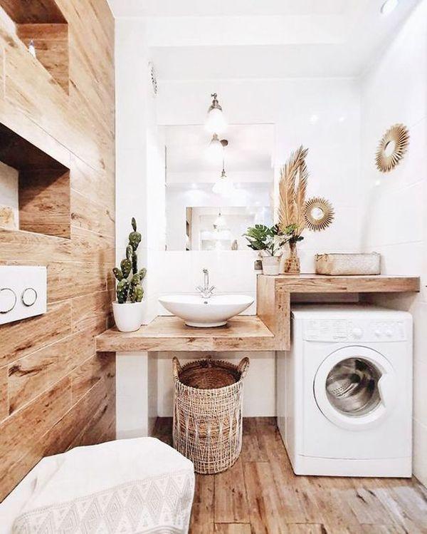 Photo of 32 moderne Waschküche Ideen im Badezimmer für kleine Räume | Haus Design und Dezember …