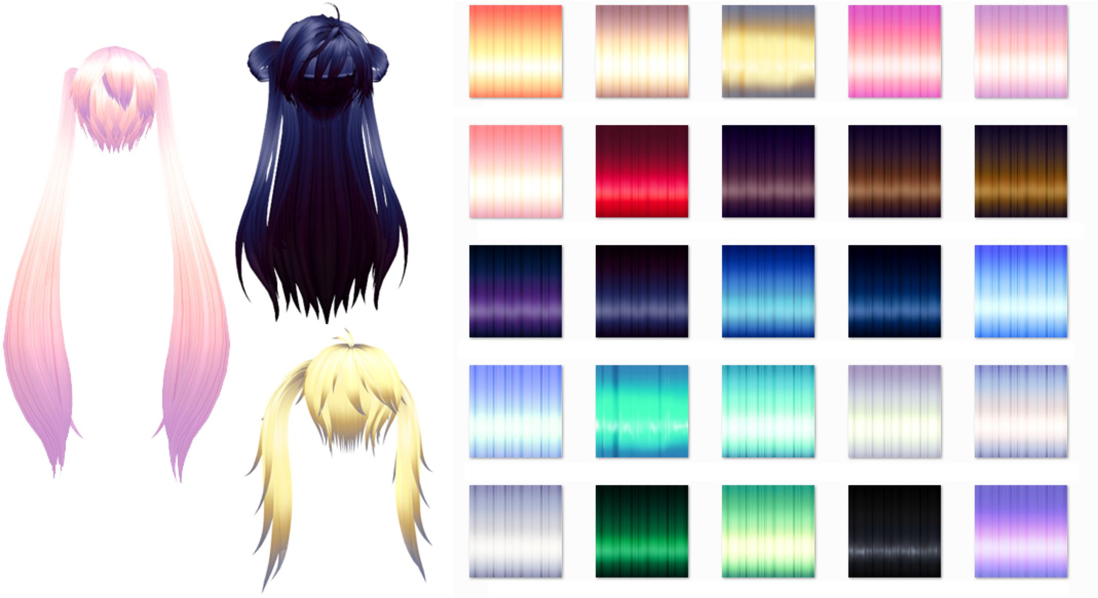 MMD Nxja Texture hair pack Download by 9844 on @DeviantArt