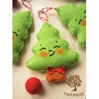 100+ FREE Christmas Ornament Sewing Patterns #feltchristmasornaments