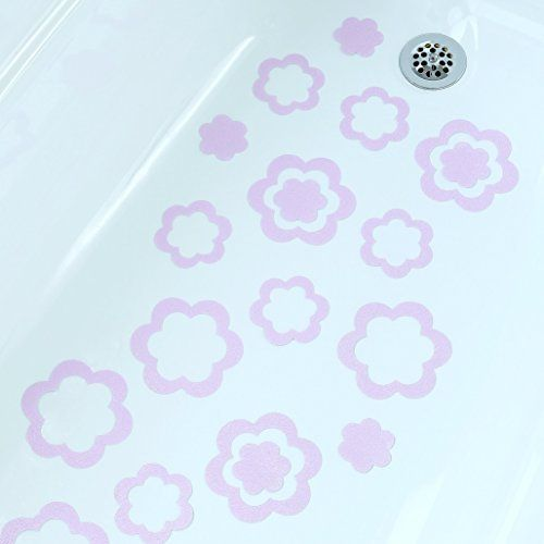 Flower Bath Treads Non Slip Appliques Sticker Bathroom Mat Bath