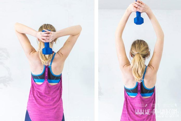 10 effektive Trizeps Training Übungen für zuhause für Frauen