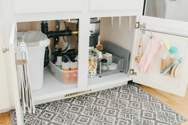Under Kitchen Sink Organization Ideas - Clean and ...