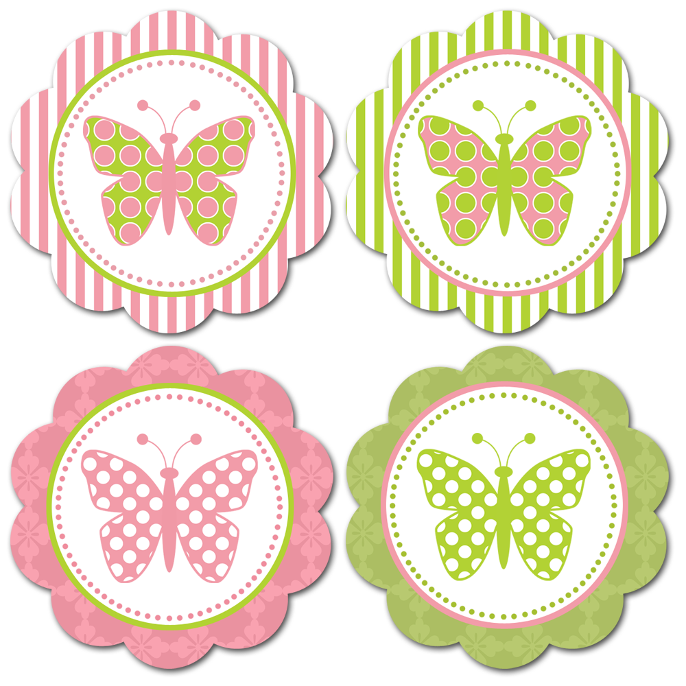 Free Printable Butterfly Embellishments Or Make Into Tags Tema