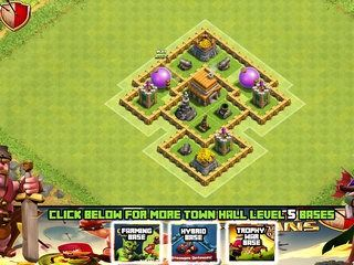 clash of clans town hall 5 defense coc th5 best hybrid base www