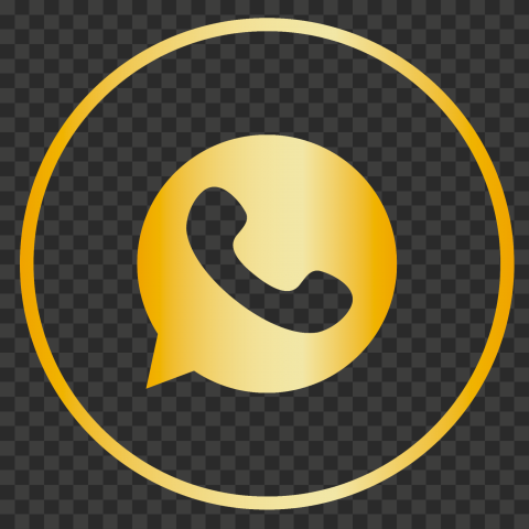 Hd Premium Golden Gold Circles Outline Whatsapp Icon Png Circle Outline Icon Outline