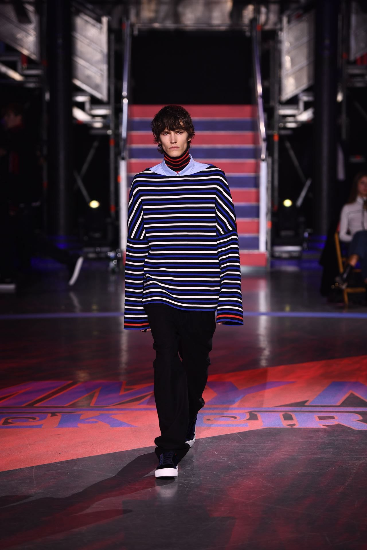 fd7c146f425bd Elias de Poot hit our London stage in the Hilfiger Edition Oversized Breton  Sweater