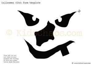 witch face template cool easy cut out stencils template really