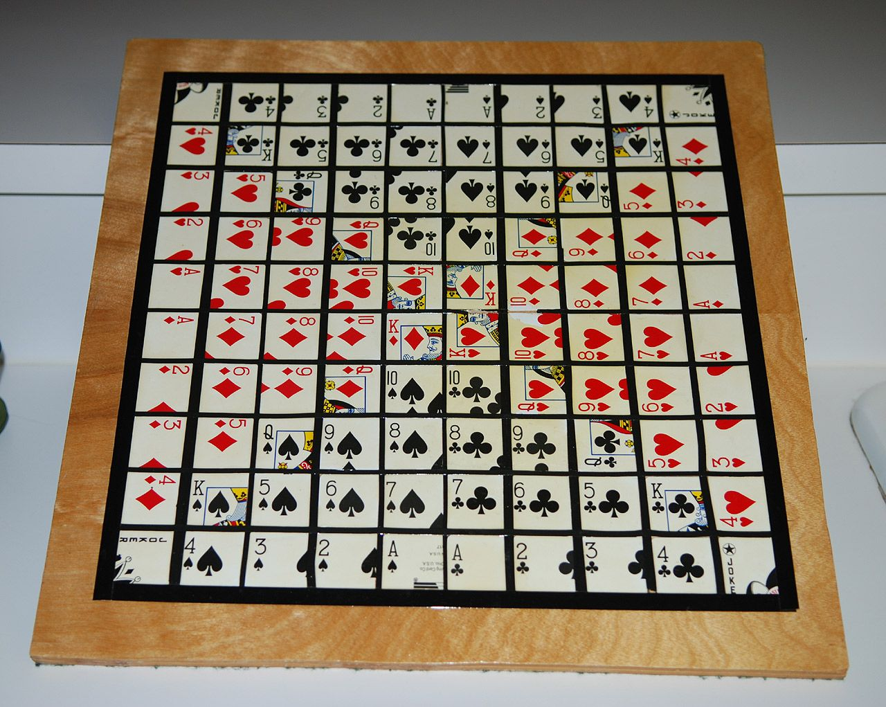 even make a homemade Sequence board and create your own