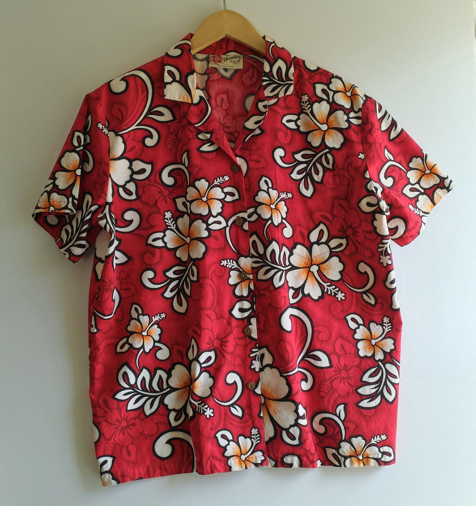 97a49b97dd1 Womens Hawaiian Shirts Red