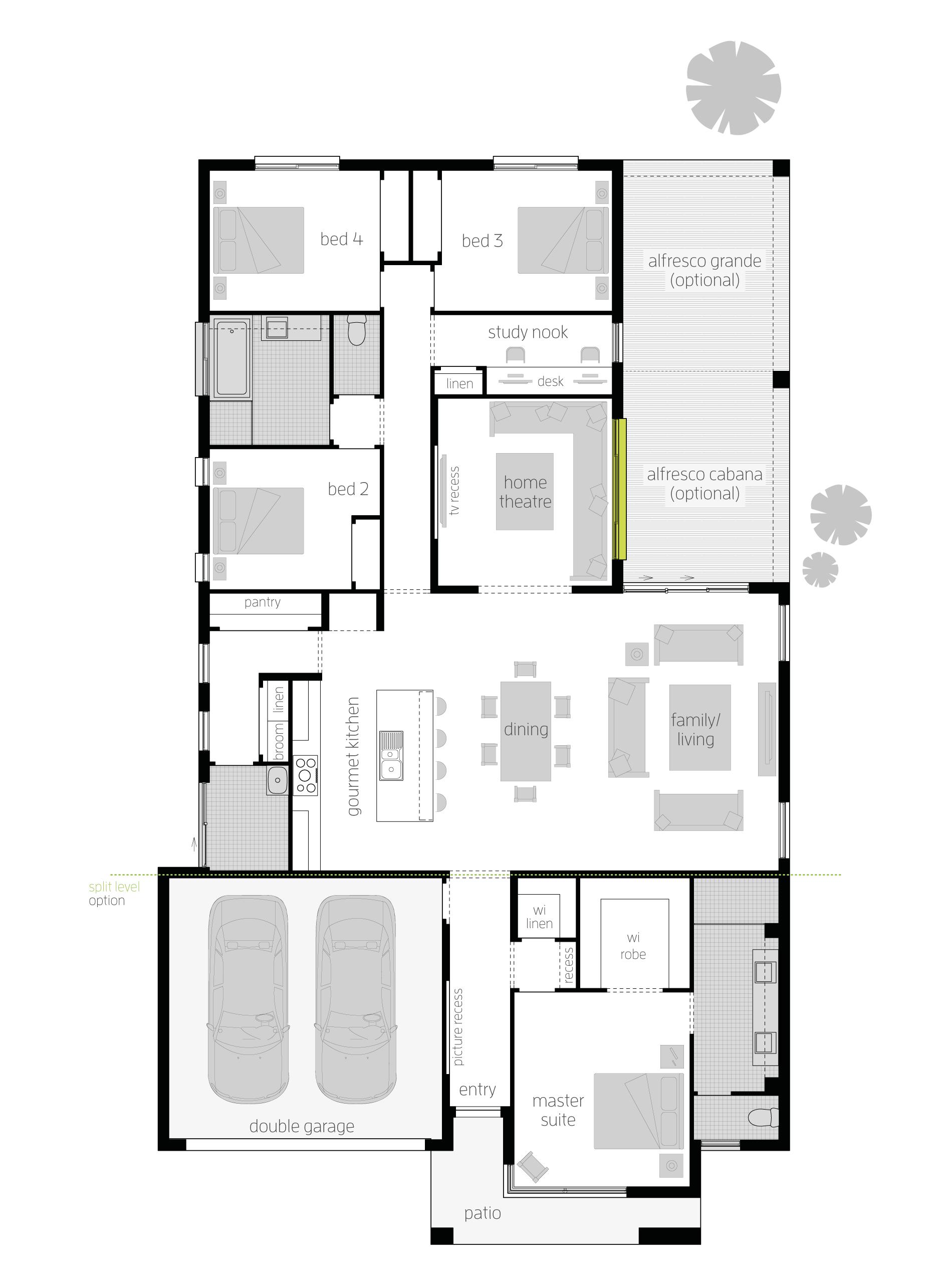 Broadbeach Zero Floor Plan Simple Small House Plans In 2018 Plan