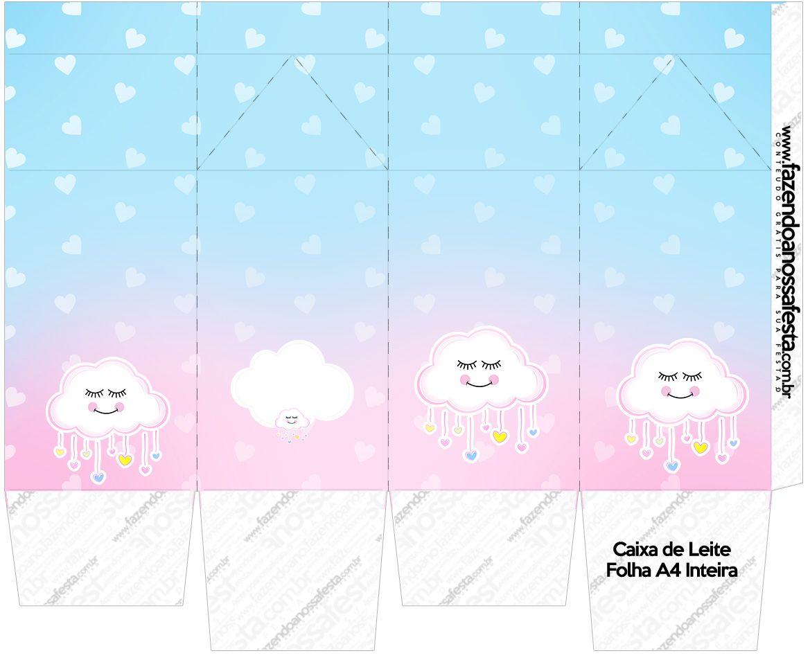 4a8878b8251ec9 Caixa de leite Chuva de Amor Kit Festa | lluvia de amor | Chuva de ...