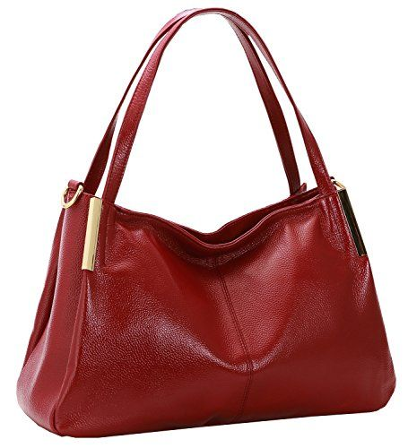 13f7a227252 New Trending Purses  Heshe Women s Leather Designer Handbags Tote Bags  Shoulder Bag with CrossBody Strap Satchel for Office Ladies (Wine).