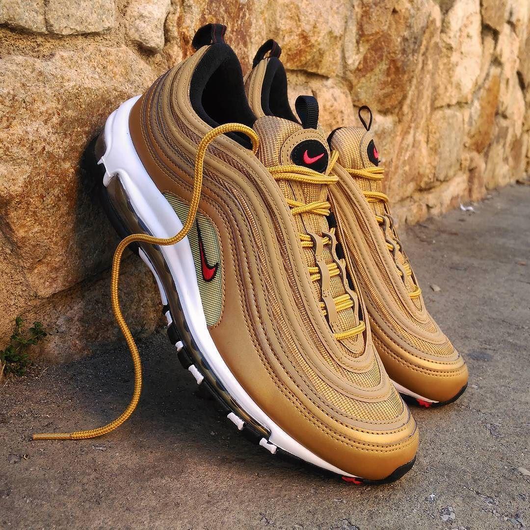 Nike Air Max 97 Og Qs Metallic Gold Nike Air Max 97 Sneakers Men Fashion Nike Air Max