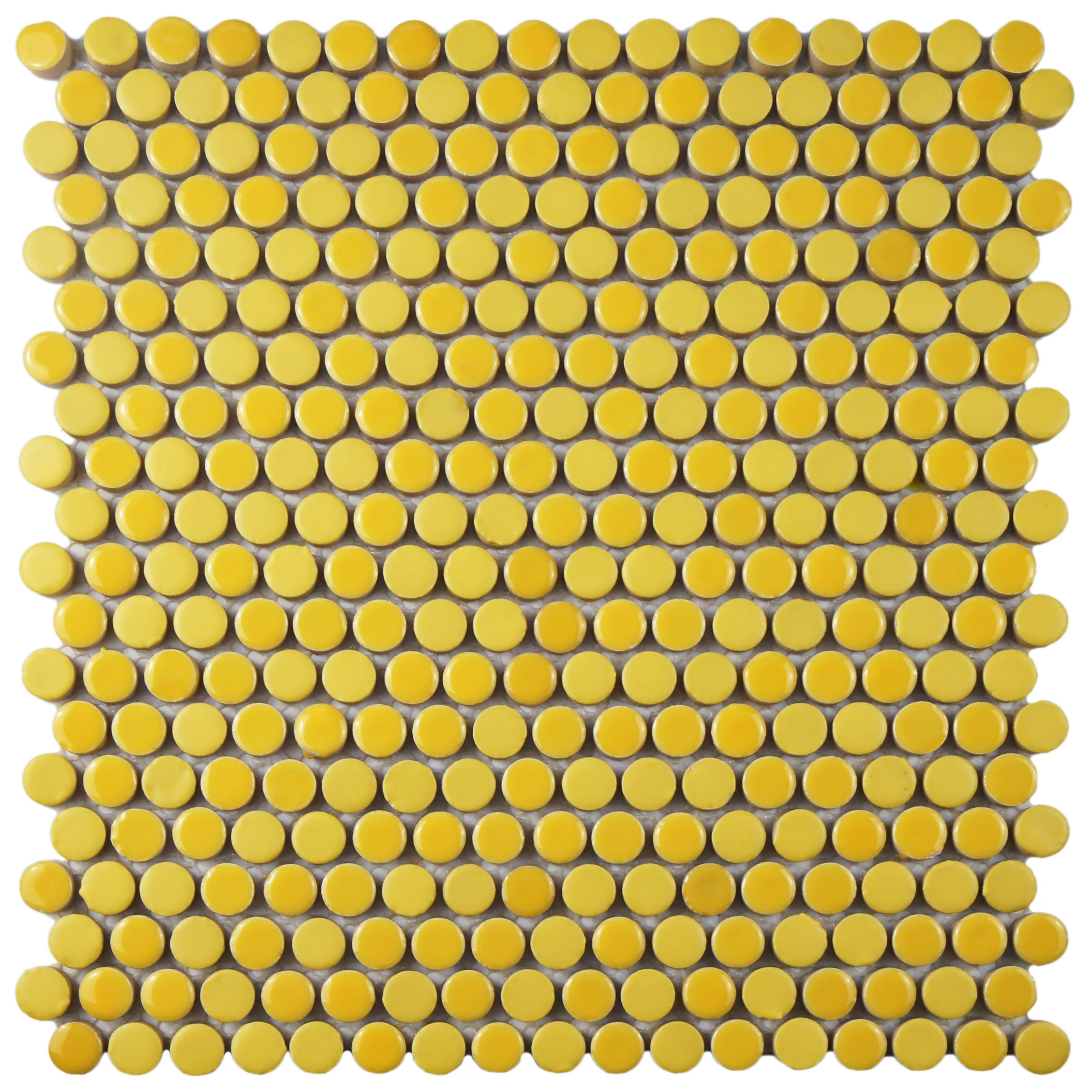 Can wall tiles be used on the floor image collections tile the somertile 12x12 inch asteroid penny round yellow porcelain the somertile asteroid penny round yellow porcelain dailygadgetfo Images