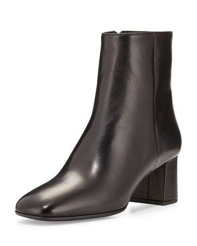 21092c922 X2SJE Prada Square-Toe Ankle Boot, Nero | store window | Boots ...