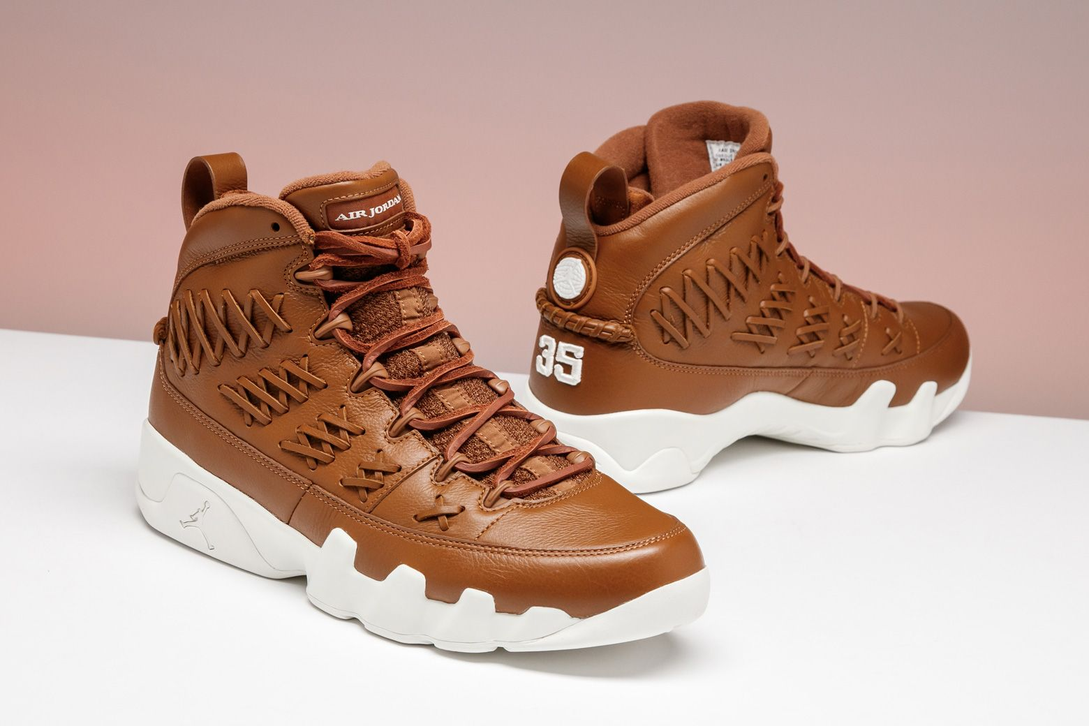 online store 80507 2b143 MJ s short stint in the minor leagues inspired this Air Jordan 9 Retro,  designed with the baseball glove in mind.