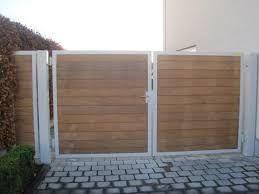 Afbeeldingsresultaat voor houten of metalen poort nieuw huis ideetjes pinterest metalen - Moderne woning buiten lay outs ...