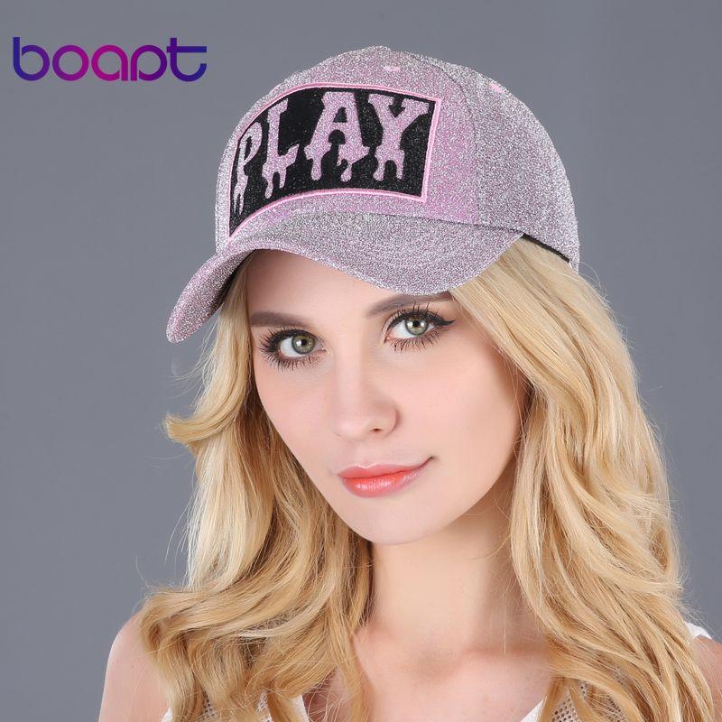0437074badb BOAPT gold wire line print letter women s hats summer sun hip hop brand  baseball cap female snapback caps casual hat